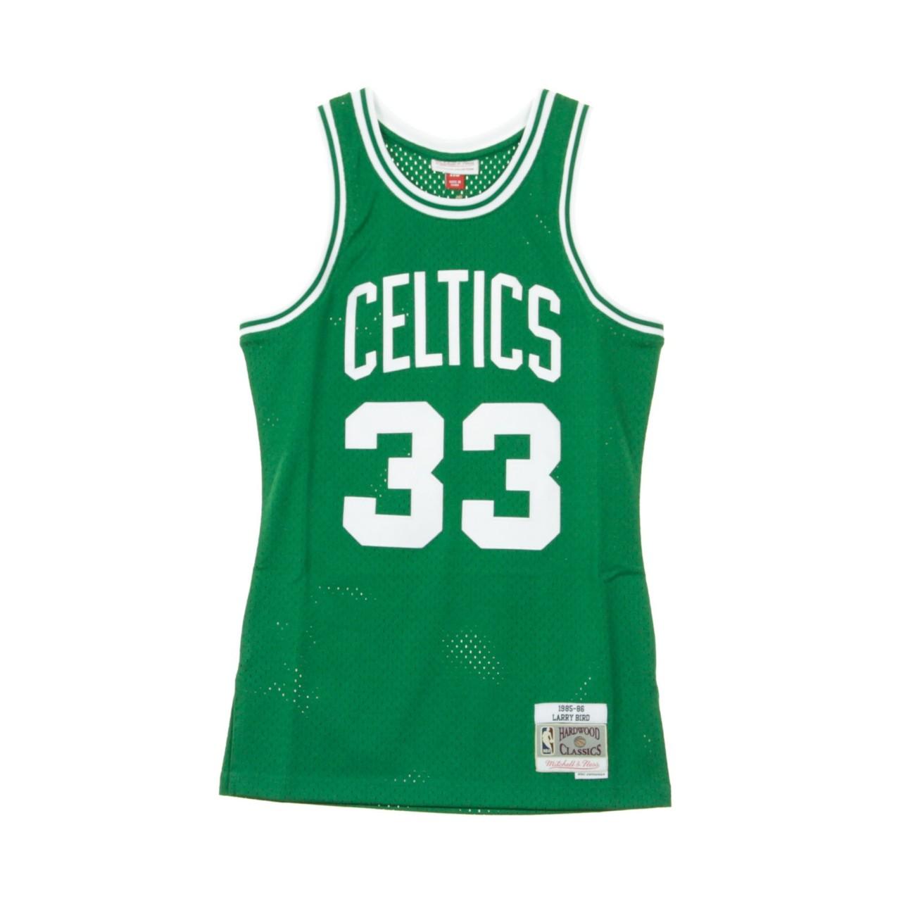 MITCHELL & NESS NBA SWINGMAN JERSEY LARRY BIRD NO.33 1985-86 BOSCEL ROAD MN-NBA-353J-301-FGYLBI-BOSCEL