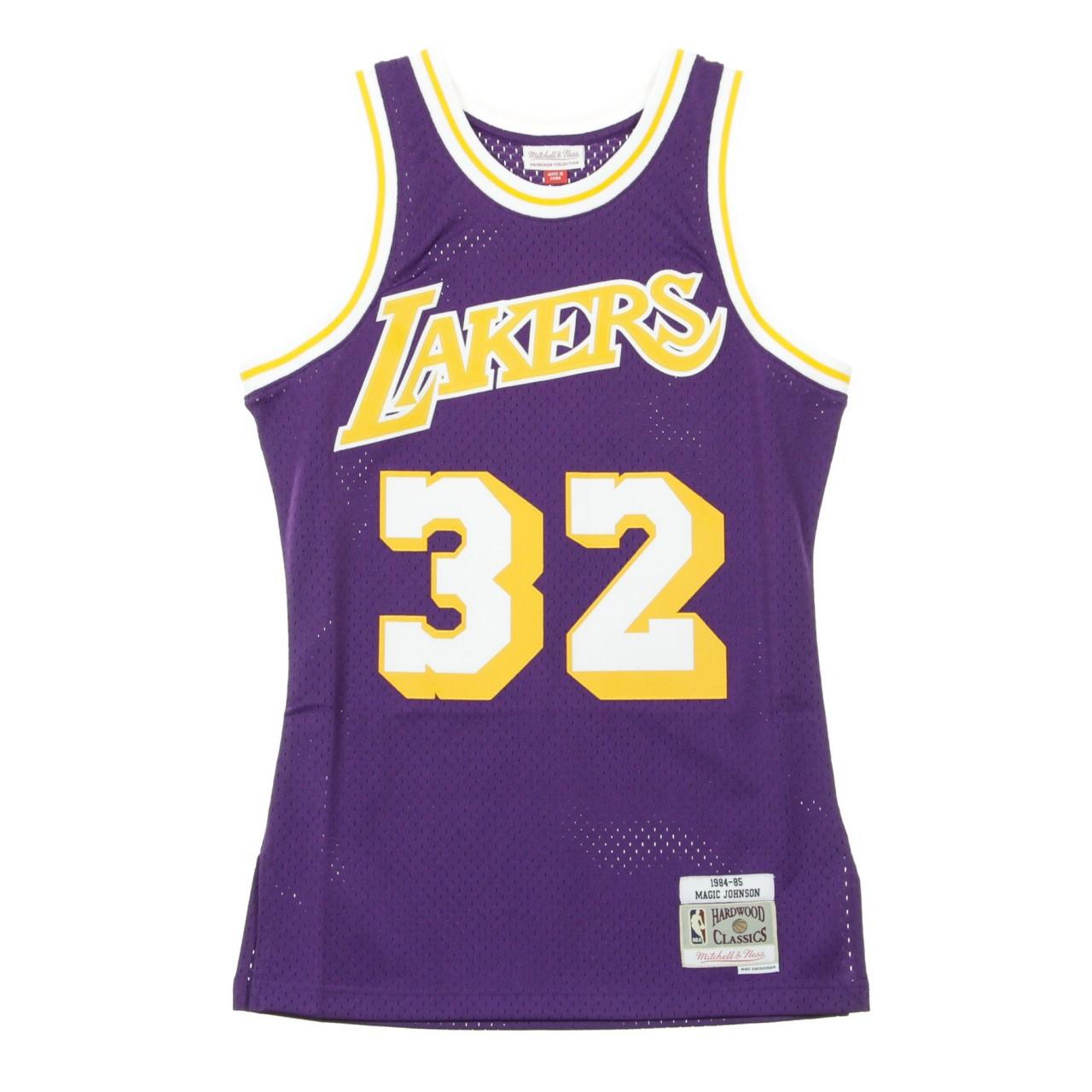 MITCHELL & NESS NBA SWINGMAN JERSEY MAGIC JOHNSON NO.32 1984-85 LOSLAK ROAD MN-NBA-353J-329-FGYEJH-LALAKE