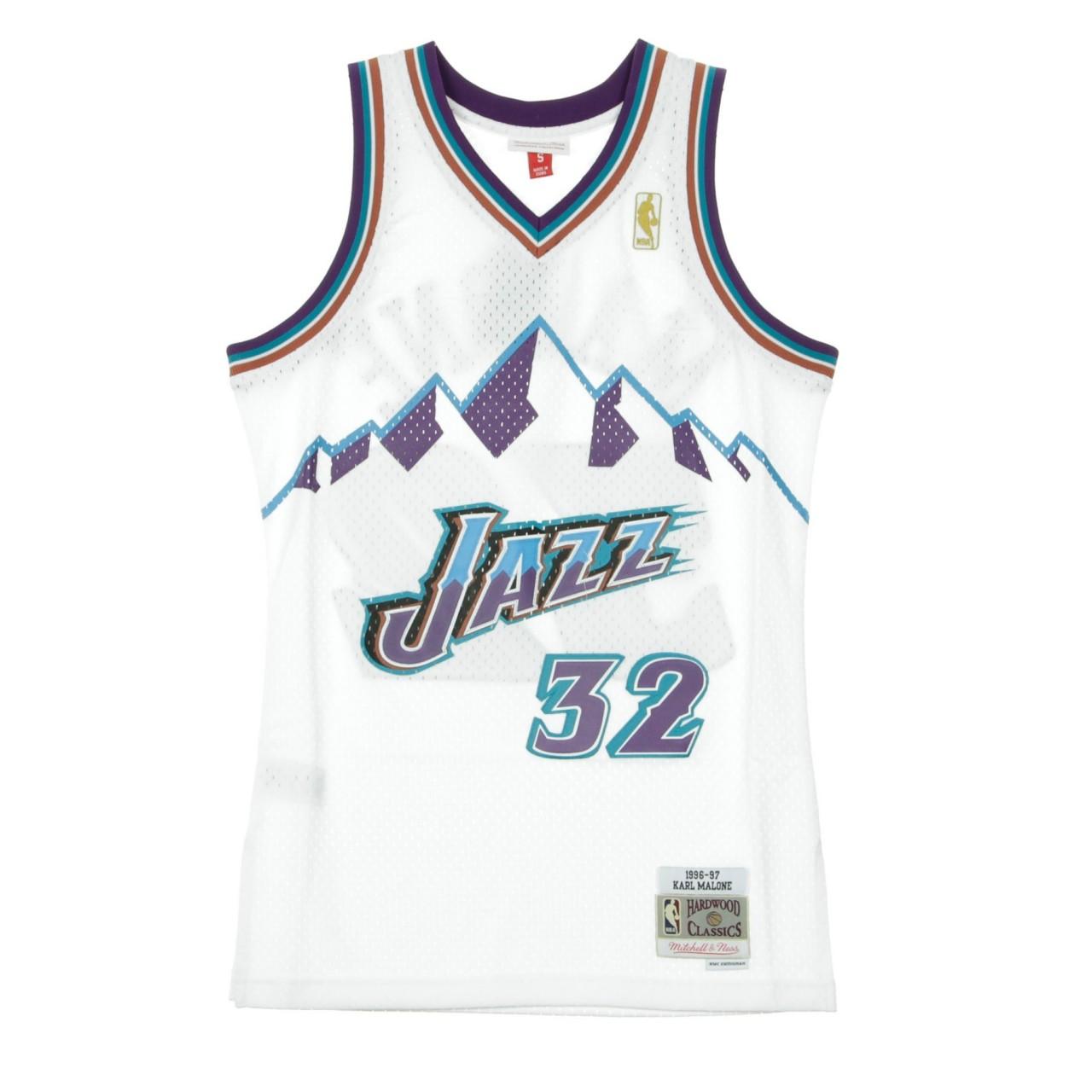 MITCHELL & NESS NBA SWINGMAN JERSEY KARL MALONE NO.32 1996/97 UTAJAZ HOME MN-NBA-353J-3D9-FGYKMA-UTAJAZ-