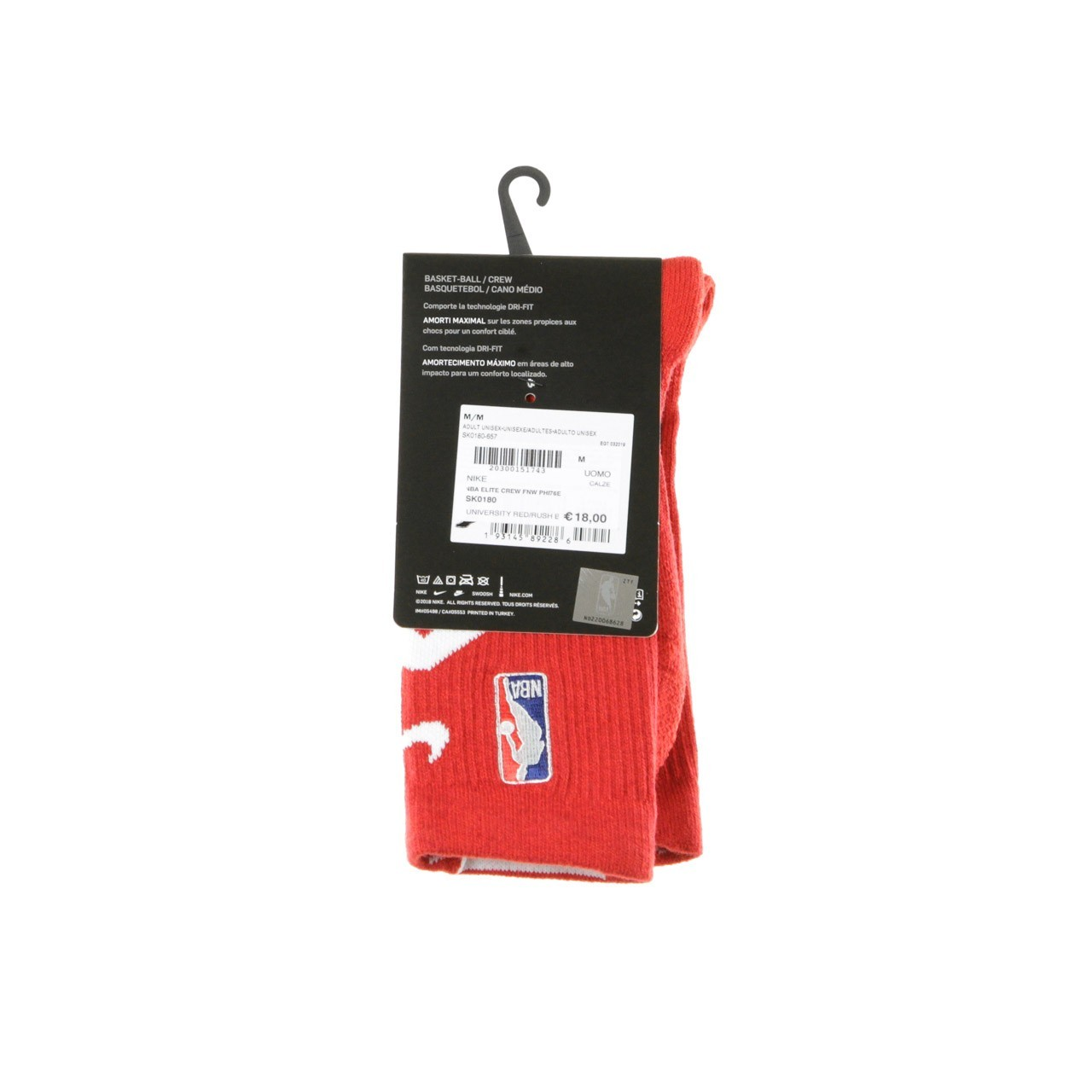 NIKE NBA NBA ELITE CREW FNW PHI76E SK0180