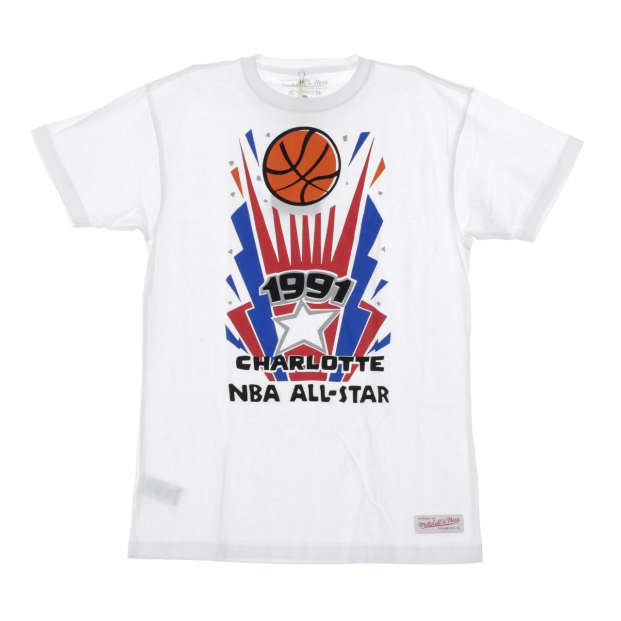 MITCHELL & NESS ALL STAR GAME STUB SHORT SLEEVE TEE BMTRMM18370-ASGWHIT