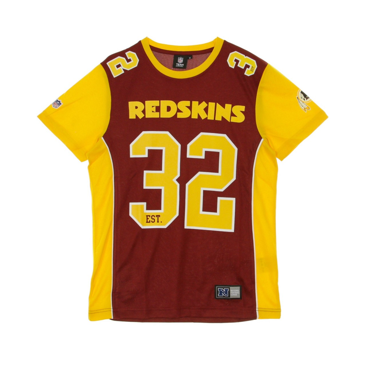 MAJESTIC NFL DENE POLY MESH TEE WASRED MWR-4655-WE