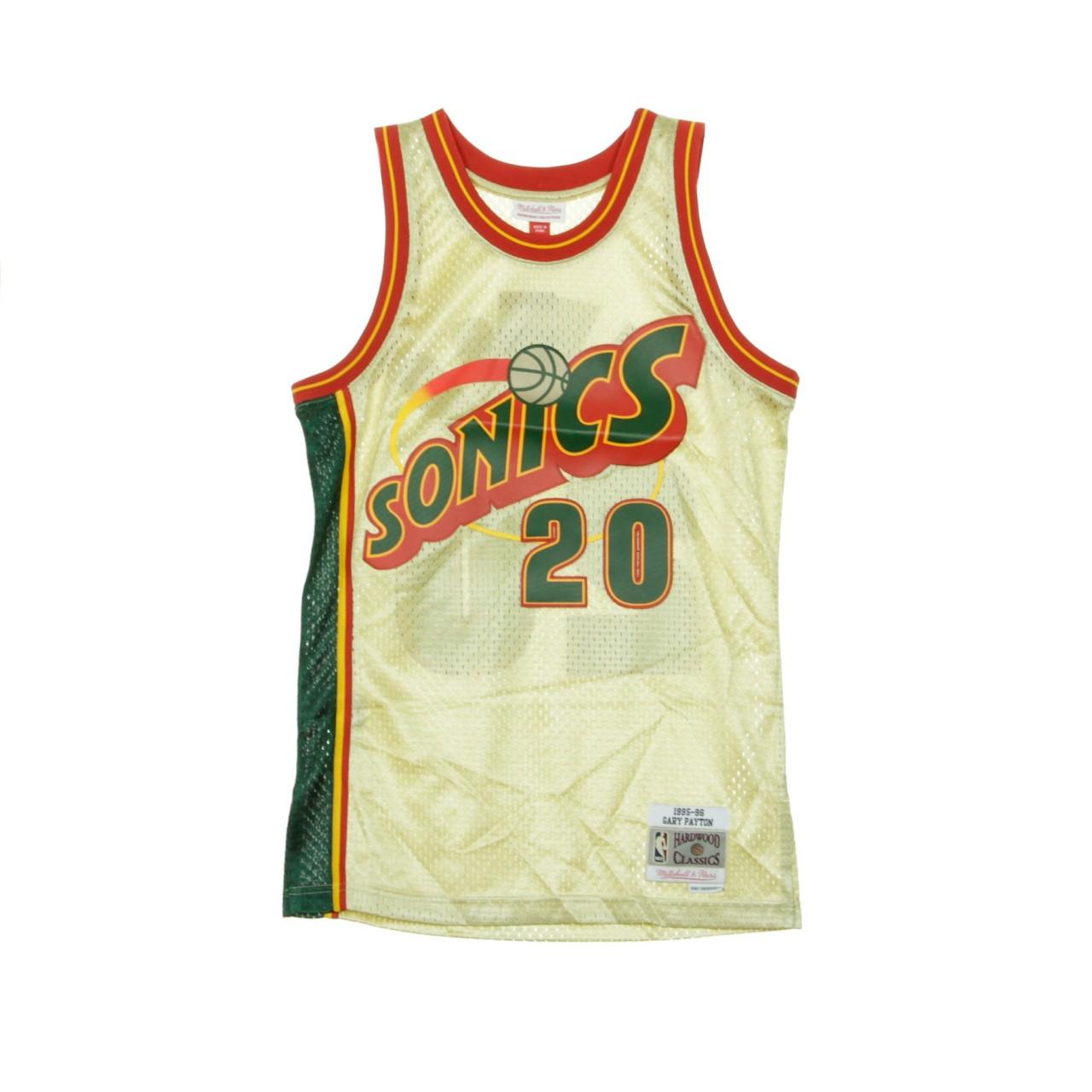 MITCHELL & NESS NBA SWINGMAN JERSEY GARY PAYTON NO.20 1995-96 SEASUP GOLD BA895M-SSU-D-L3W
