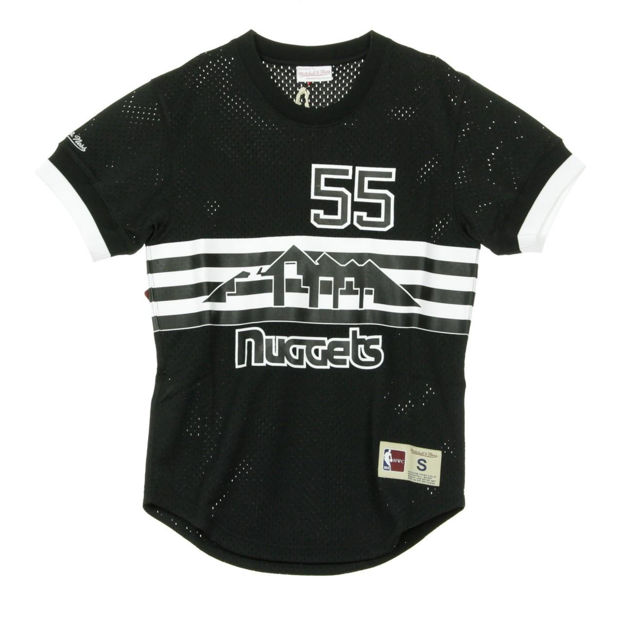 MITCHELL & NESS BLACK & WHITE MESH NAME & NUMBER CREWNECK DICKEMBE MUTOMBO NO.55 DENNUG BA8X4G-DNU-K-KVQ