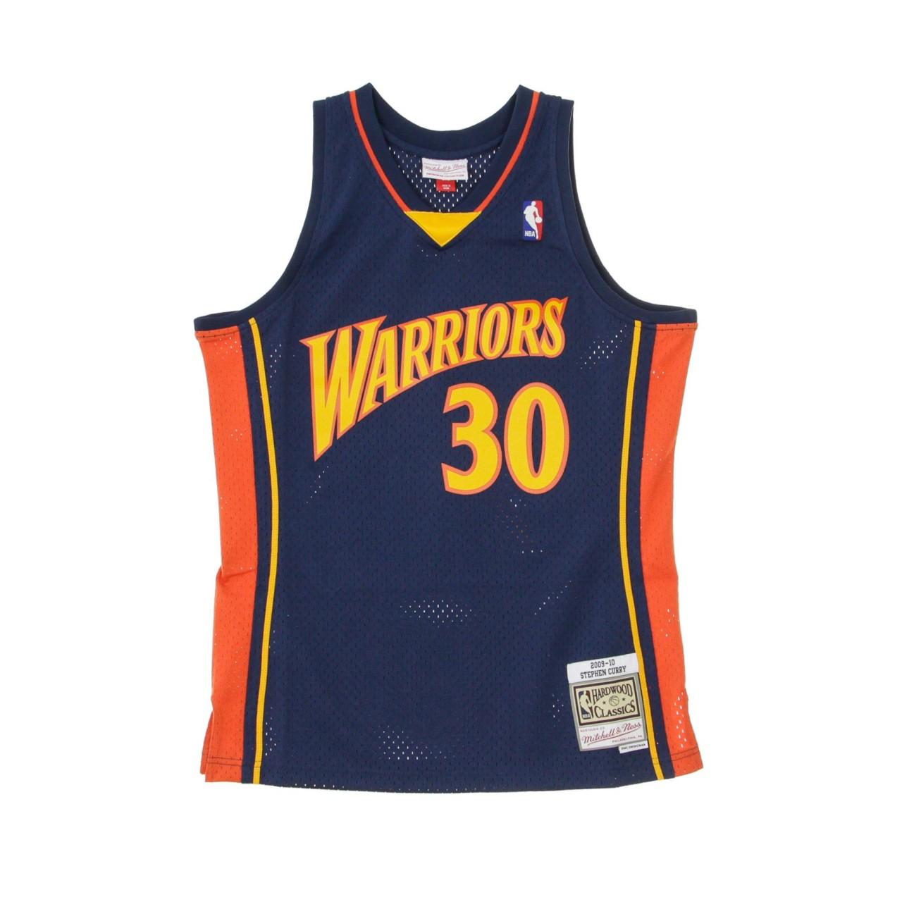 MITCHELL & NESS NBA SWINGMAN JERSEY HARDWOOD CLASSICS NO.30 STEPHEN CURRY 2009-10 GOLWAR ROAD SMJYGS18170-GSWNAVY09SCU