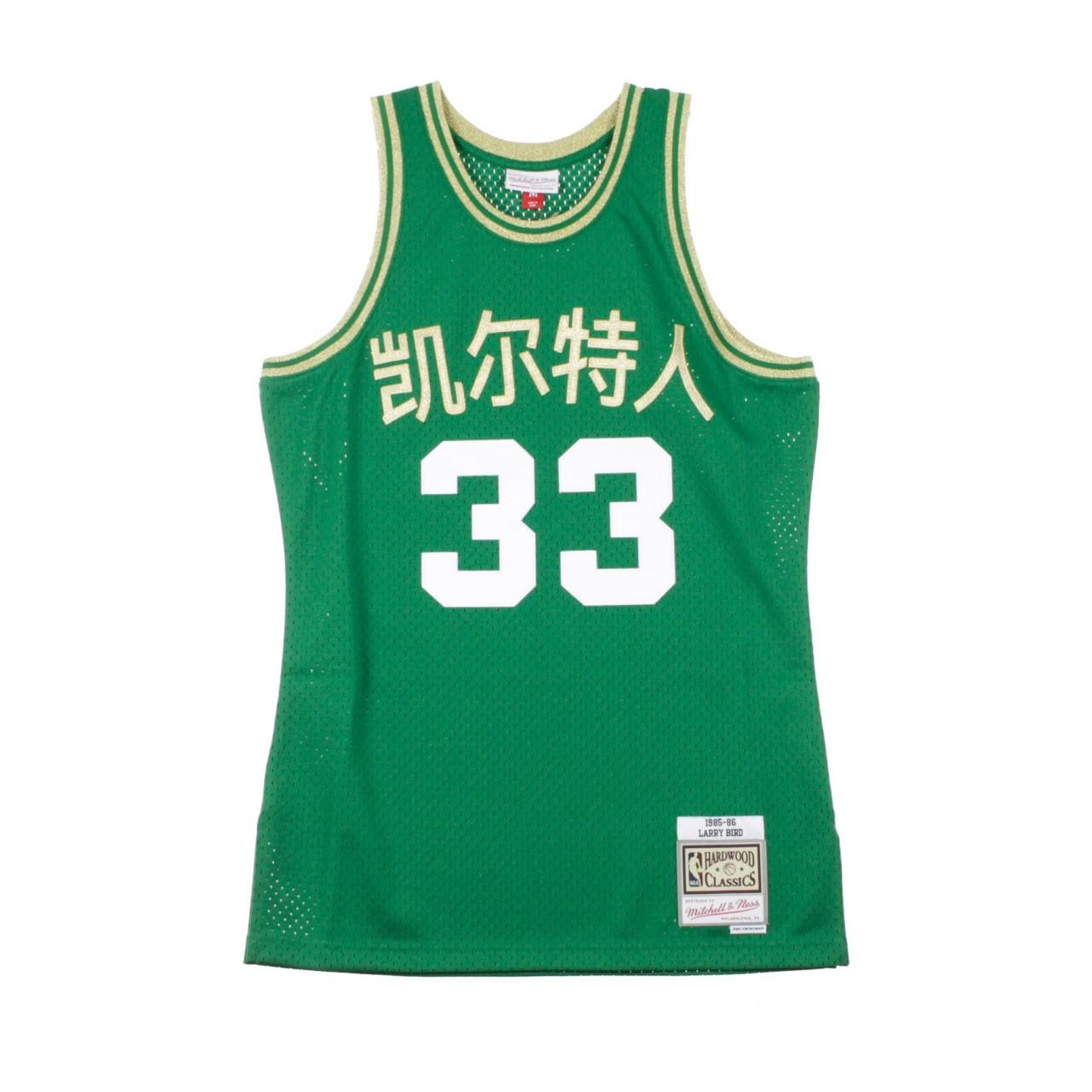MITCHELL & NESS NBA CHINESE NEW YEAR EDITION SWINGMAN JERSEY LARRY BIRD NO.33 1985-86 BOSCEL ROAD SMJYNG18393-BCEGREN85LBI