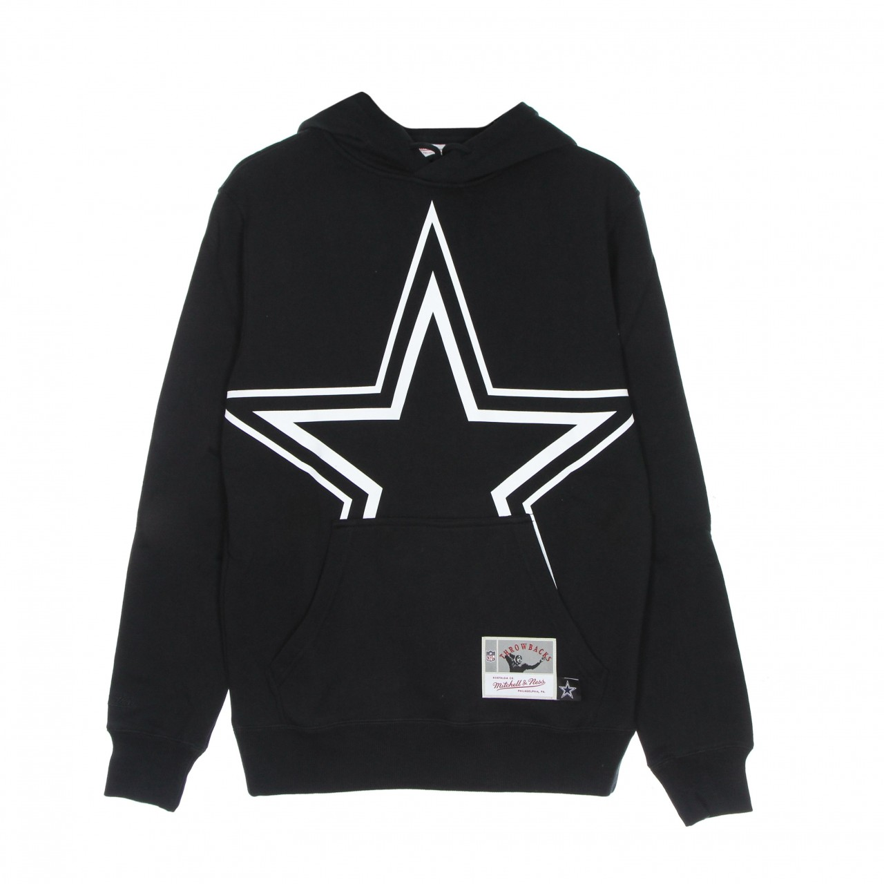MITCHELL & NESS NFL BIG FACE 3.0 HOODIE DALCOW FPHD1177-DCOYYPPBLCK