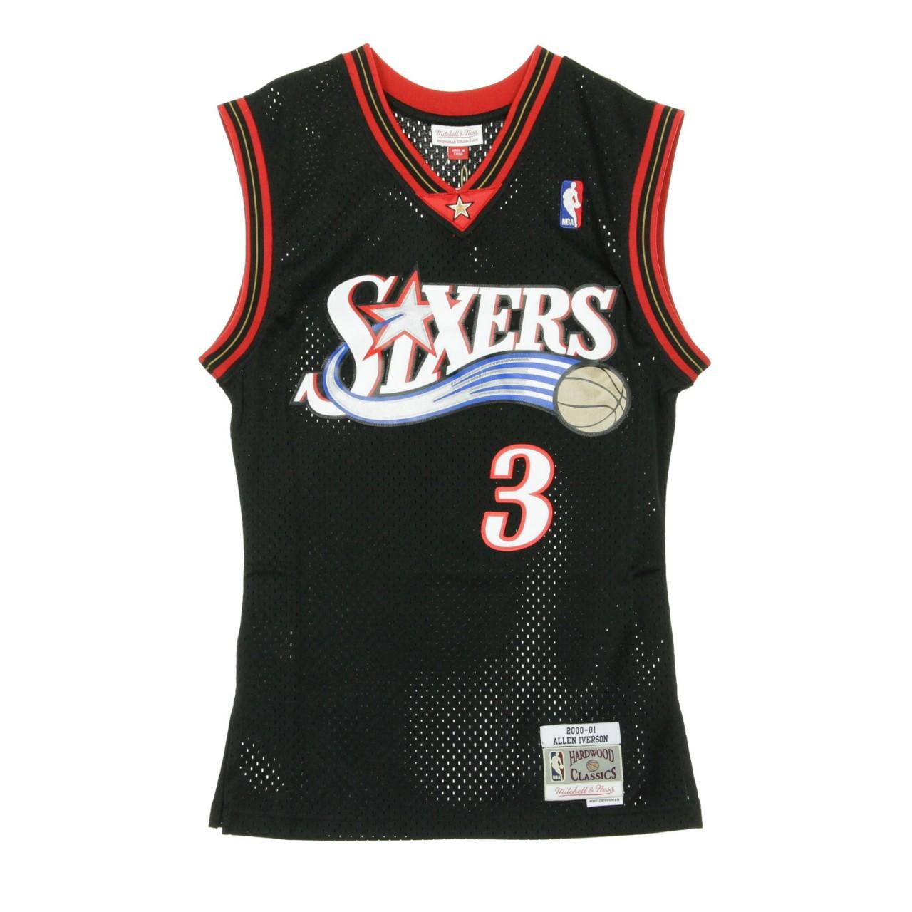 MITCHELL & NESS NBA SWINGMAN JERSEY ALLEN IVERSON NO.3 2000-01 PHI76E ROAD MN-NBA-353J-3B2-FGYAIV-PHIL76