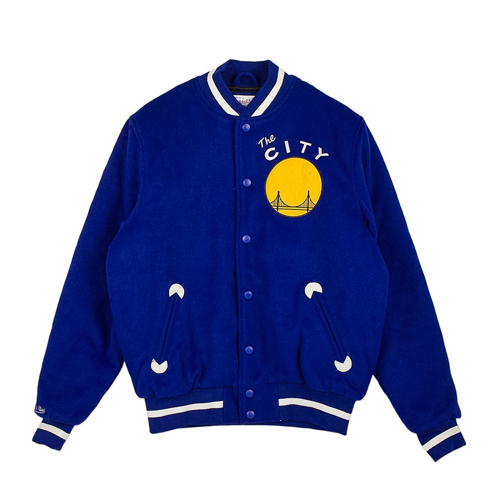 MITCHELL & NESS IN THE STANDS VARSITY JACKET GOLWAR 195720