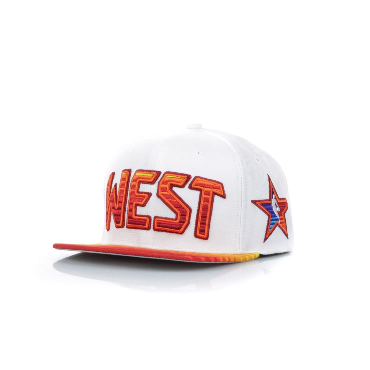 MITCHELL & NESS NBA ALL STAR 1991 NO.32 SHAQUILLE O'NEAL ALL STAR GAME WEST SUNSET SNAPBACK 6HSSDX18010-ASWWHITSON