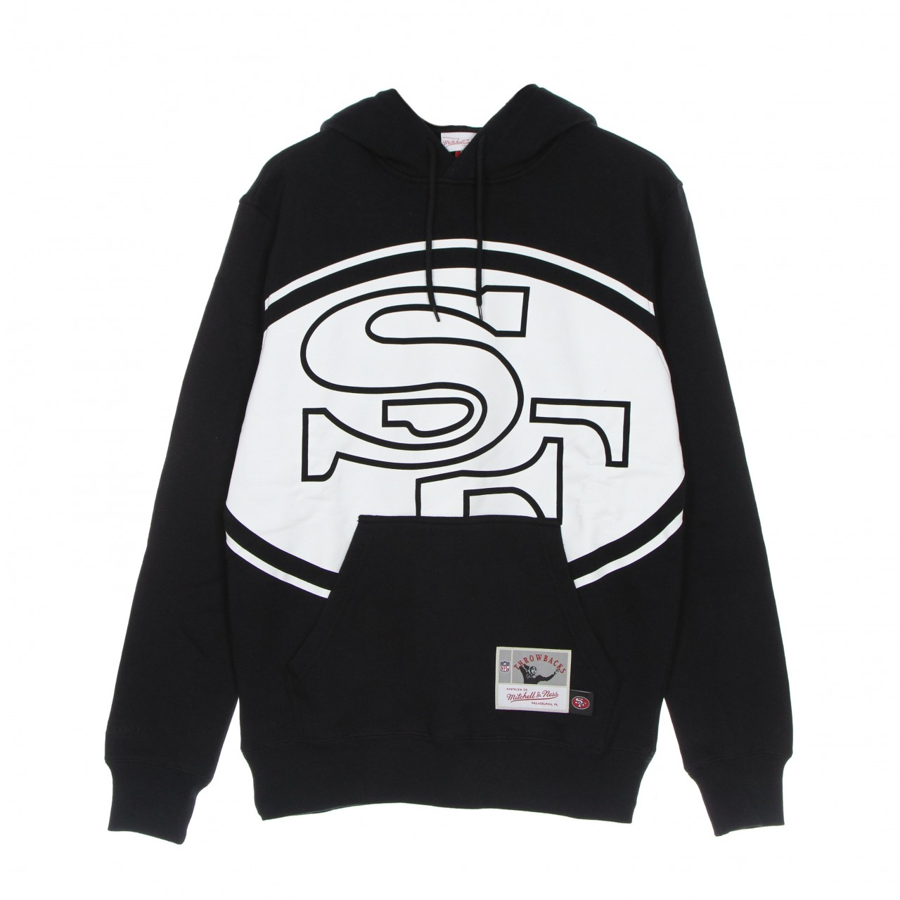 MITCHELL & NESS NFL BIG FACE 3.0 HOODIE SAF49E FPHD1177-SF4YYPPPBLCK