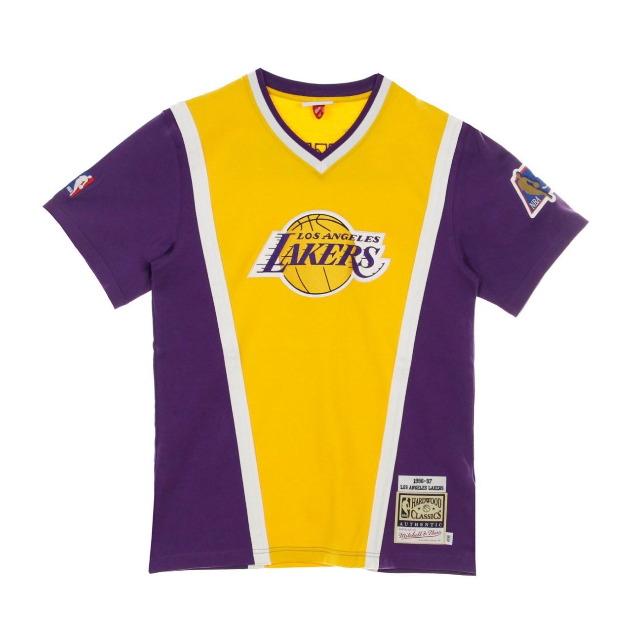 MITCHELL & NESS NBA AUTHENTIC SHOOTING SHIRT HARDWOOD CLASSICS 1996-97 LOSLAK ASSHSB20005-LALLTGD96