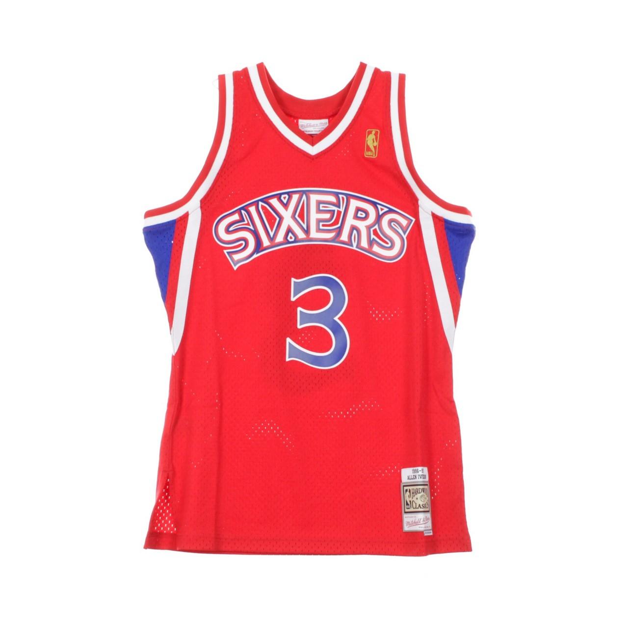 MITCHELL & NESS NBA SWINGMAN JERSEY ALLEN IVERSON NO.3 1996-97 PHI76E ROAD SMJYGS18199-P76SCAR96AIV