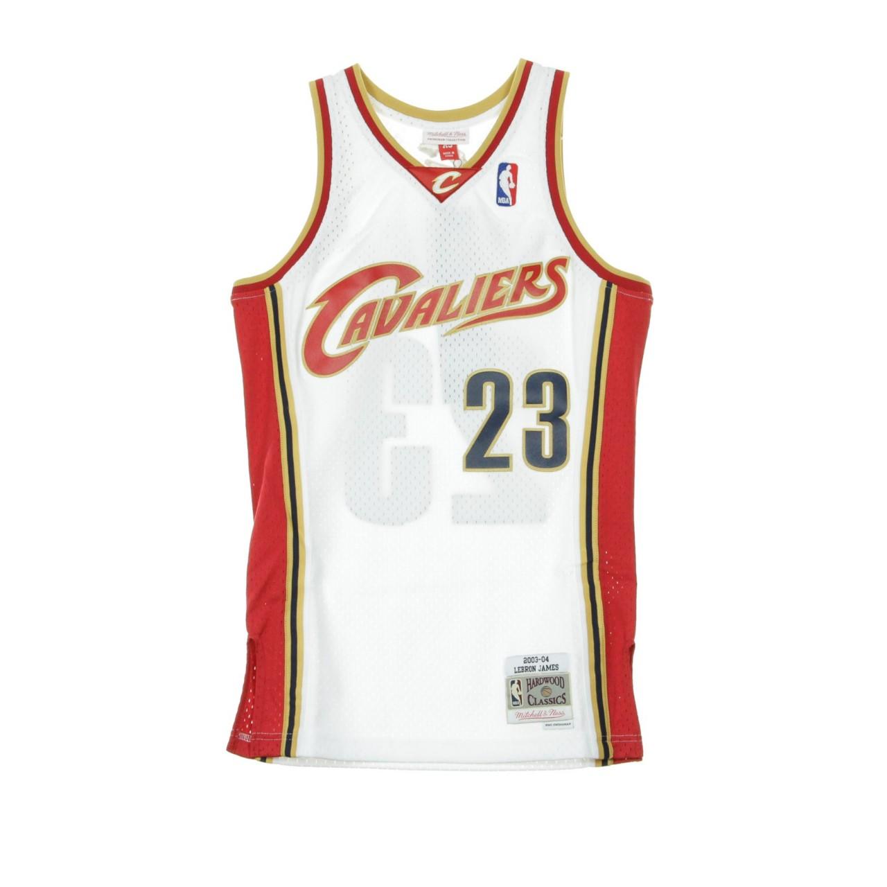 MITCHELL & NESS NBA SWINGMAN JERSEY LEBRON JAMES NO.23 2003-04 CLECAV HOME BA84SN-CCA-W-C8Q