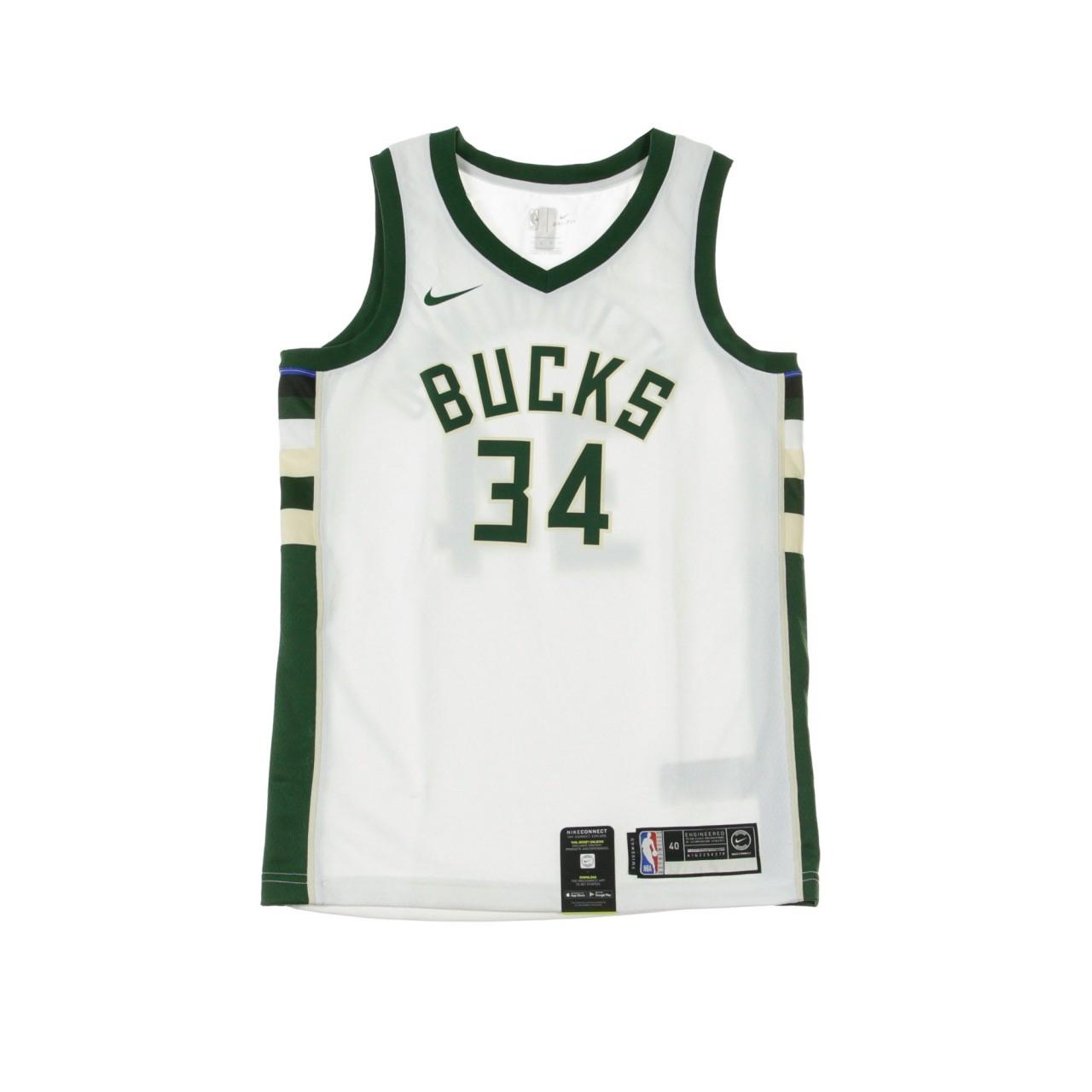 NIKE NBA NBA SWINGMAN JERSEY ASSOCIATION EDITION NO 34 GIANNIS ANTETOKOUNMPO MILBUC HOME 864429