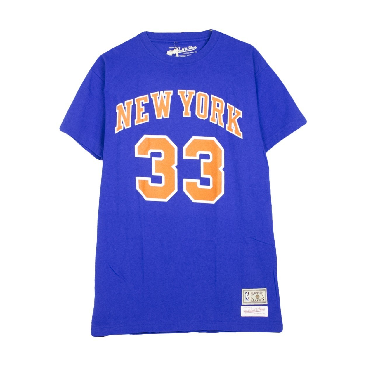 MITCHELL & NESS NAME & NUMBER TRADITIONAL TEE PATRICK EWING NO.33 NEYKNI MN-HWC-33PEWING-NYKNIC
