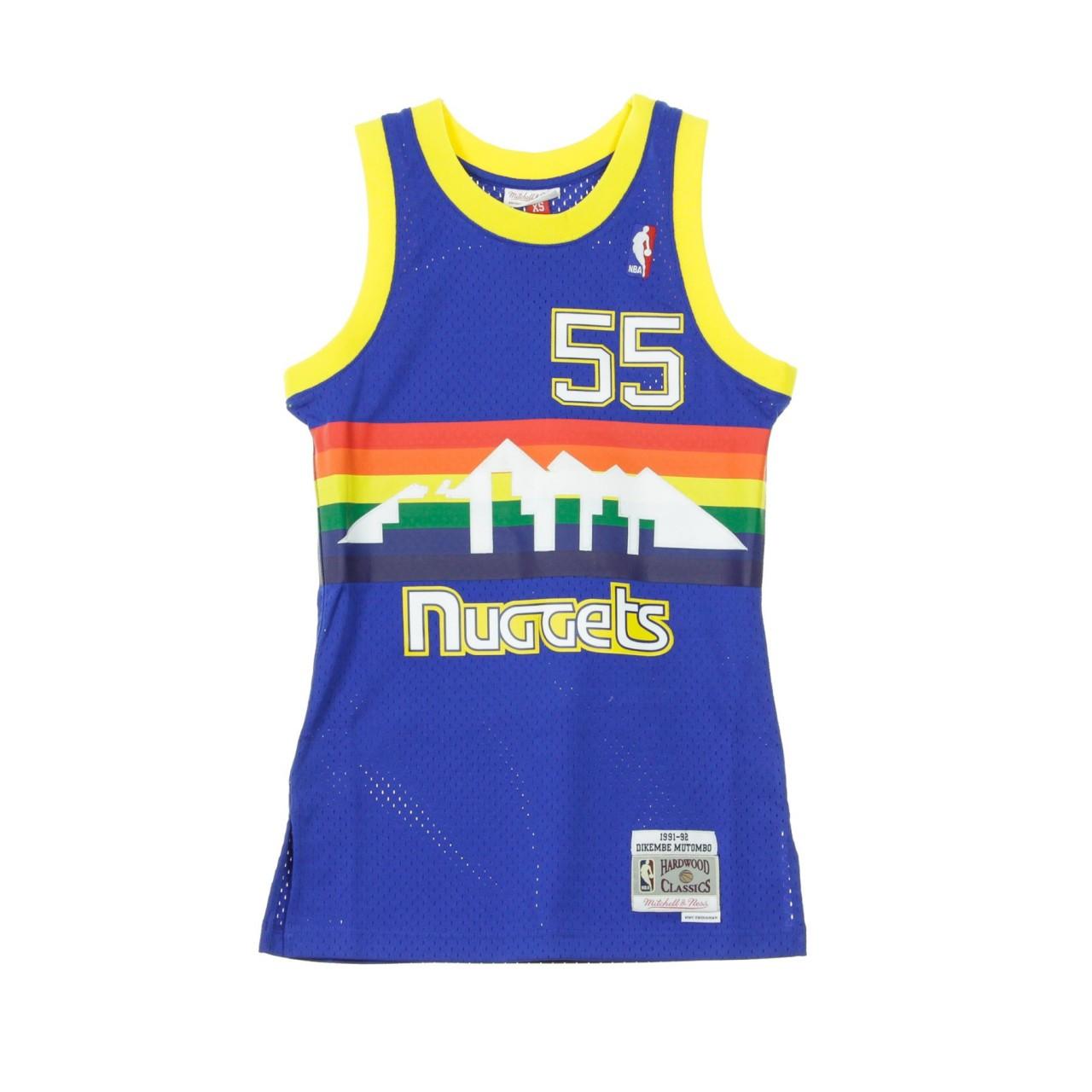 MITCHELL & NESS NBA SWINGMAN JERSEY HARDWOOD CLASSICS NO.55 DIKEMBE MUTOMBO 1991-92 DENNUG ROAD SMJYGS18159-DNUROYA91DMO